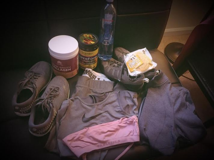 Inside Demi's Gym Bag